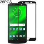 25 PCS Full Glue Full Cover Screen Protector Tempered Glass film for Motorola Moto G6 Plus