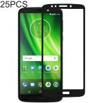 25 PCS Full Glue Full Cover Screen Protector Tempered Glass film for Motorola Moto G6 Play