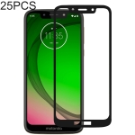 25 PCS Full Glue Full Cover Screen Protector Tempered Glass film for Motorola Moto G7 Play