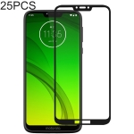 25 PCS Full Glue Full Cover Screen Protector Tempered Glass film for Motorola Moto G7 Power