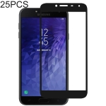 25 PCS Full Glue Full Cover Screen Protector Tempered Glass film for Galaxy J4 (2018)