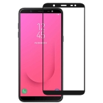 Full Glue Full Cover Screen Protector Tempered Glass film for Galaxy J8 (2018)
