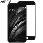 25 PCS Full Glue Full Cover Screen Protector Tempered Glass film for Xiaomi Mi 6