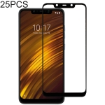 25 PCS Full Glue Full Cover Screen Protector Tempered Glass film for Xiaomi Pocophone F1