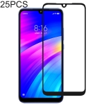25 PCS Full Glue Full Cover Screen Protector Tempered Glass film for Xiaomi Redmi 7