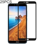 25 PCS Full Glue Full Cover Screen Protector Tempered Glass film for Xiaomi Redmi 7A