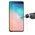 Edge Glue 3D Curved Edge Full Screen Tempered Glass Film for Galaxy S10 (Transparent)