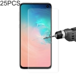 25 PCS Edge Glue 3D Curved Edge Full Screen Tempered Glass Film for Galaxy S10 (Transparent)