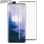 25 PCS Full Glue 3D Curved Edge Full Screen Tempered Glass Film for OnePlus 7 Pro (Black)