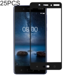 25 PCS Full Glue Full Cover Screen Protector Tempered Glass film for Nokia 8