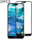 25 PCS Full Glue Full Cover Screen Protector Tempered Glass film for Nokia 7.1