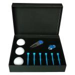 11 in 1 6 Golf Tees + Divot Tool + 3 Golf Balls Gift Box Set (Blue)