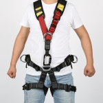 XINDA XDA9516 Outdoor Rock Climbing Polyester High-strength Wire Adjustable Downhill Whole Body Safety Belt