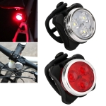 HJ-03050LM COB Lamp Bead USB Charging Four-speed Dimming Waterproof Bicycle Headlight + Taillight Set