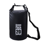 DZGOGO Portable Outdoor Waterproof Sport PVC Shoulder Strap Barrel Bag, Capacity: 5L (Black)
