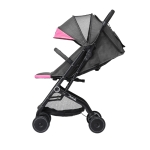 Original Xiaomi 700Kids Child Baby Adjustable Folding Shockproof Four-wheeled Stroller Cart with Double Brake (Pink)