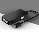 basix D1 Mini DP to HDMI + DVI + VGA 1080P Multi-function Converter, Cable Length: 15cm (Black)