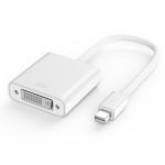 basix D8 Mini DP to DVI Converter, Cable Length: 15cm (White)