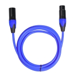 XRL Male to Female Microphone Mixer Audio Cable, Length: 3m (Blue)