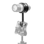 PULUZ Light Diving Aluminum Alloy Clamp Ball Head Mount Adapter Fixed Clip for Underwater Strobe Housing Light