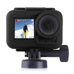 PULUZ Silicone Protective Case with Lens Cover for DJI Osmo Action with Frame (Black)