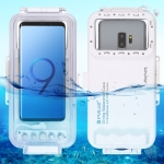 PULUZ 45m Waterproof Diving Housing Photo Video Taking Underwater Cover Case for Galaxy, Huawei, Xiaomi, Google Android OTG Smartphones with Type-C Port (White)