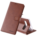 MERCURY GOOSPERY Blue Moon Cowhide Texture Horizontal Flip PU Leather Case for Galaxy S10 5G, with Holder & Card Slots & Wallet(Brown)
