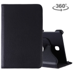 Litchi Texture Rotating ClassicBusiness Horizontal Flip Leather Case for Galaxy Tab A 8.0 T387, with Holder(Black)
