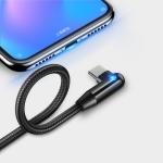CAFELE Type-C / USB-C Atomic Series 90 Degree Bend Design Charging Data Cable, Length: 1.2m (Black)