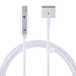 5 Pin MagSafe 2 (T-Shaped) to USB-C / Type-C PD Charging Cable (White)