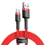 Baseus 2A Type-C / USB-C Cafule Tough Charging Cable, Length: 3m(Red)