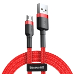 Baseus 2A Micro Cafule Tough Charging Cable, Length: 3m(Red)