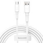 Baseus 2.4A Micro USB Mini White Charging Cable, Length: 1m(White)