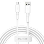 Baseus 3A Type-C / USB-C Mini White Charging Cable, Length: 1m (White)