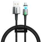 Baseus 3A Type-C / USB-C Zinc Magnetic Charging Cable, Length: 1m(Black)