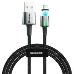Baseus 2A Type-C / USB-C Zinc Magnetic Charging Cable, Length: 2m(Black)