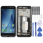 LCD Screen and Digitizer Full Assembly with Frame for Asus Zenfone 2 ZE500CL Z00D(Black)