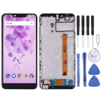 LCD Screen and Digitizer Full Assembly with Frame for Wiko View2 Go(Black)