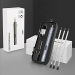 A-012 Rechargeable Lithium Battery Rechargeable Electric Drill Cordless Screwdriver Set with 8 Gear Torsion (Grey)
