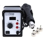 Kaisi K-858D SMD Hot-Air Soldering Station LED Digital Display Support Controllable Temperature for Desoldering + Air Nozzles, US Plug