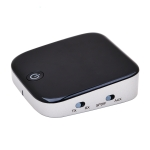 Adapter 3.5mm8670 Bluetooth Receiver Transmitter aux Bluetooth Receiver With Fiber Optics black