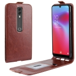 Crazy Horse Vertical Flip Leather Protective Case for Vodafone Smart V10 / VFD 730(Brown)