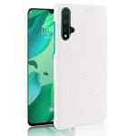 Shockproof Crocodile Texture PC + PU Case For Huawei Nova 5 / Nova 5 Pro(White)