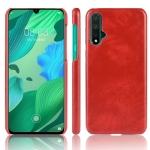 Shockproof Litchi Texture PC + PU Case For Huawei Nova 5 / Nova 5 Pro(Red)