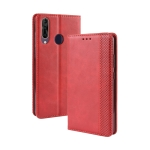 Magnetic Buckle Retro Crazy Horse Texture Horizontal Flip Leather Case for Wiko View3, with Holder & Card Slots & Photo Frame(Red)