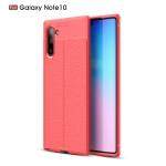 Litchi Texture TPU Shockproof Case for Galaxy Note10(Red)