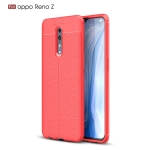 Litchi Texture TPU Shockproof Case for OPPO Reno Z(Red)