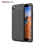 Litchi Texture TPU Shockproof Case for Xiamo Redmi 7A(Black)