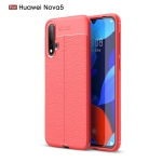 Litchi Texture TPU Shockproof Case for Huawei Nova5(Red)