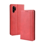 Magnetic Buckle Retro Crazy Horse Texture Horizontal Flip Leather Case for Galaxy Note10 Pro, with Holder & Card Slots & Photo Frame(Red)